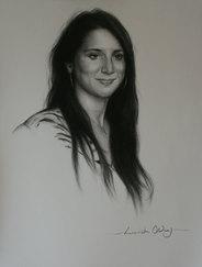 Davina - charcoal on paper