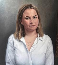 Olivia. Oil on canvas.