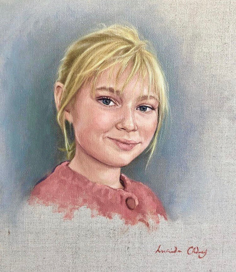 Tilly - sketch, oil on canvas.