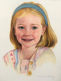 Alice - Pastel on paper.
