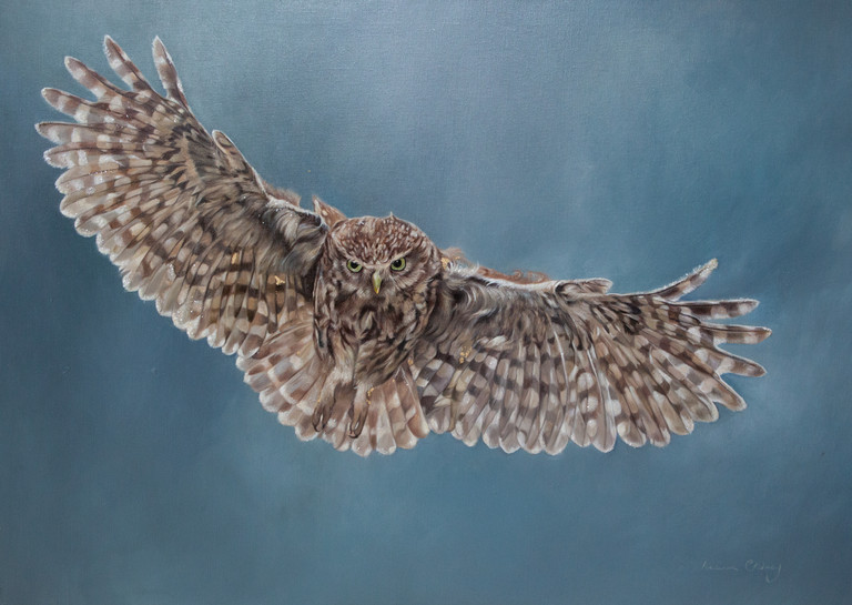 Flight. mixed media on canvas