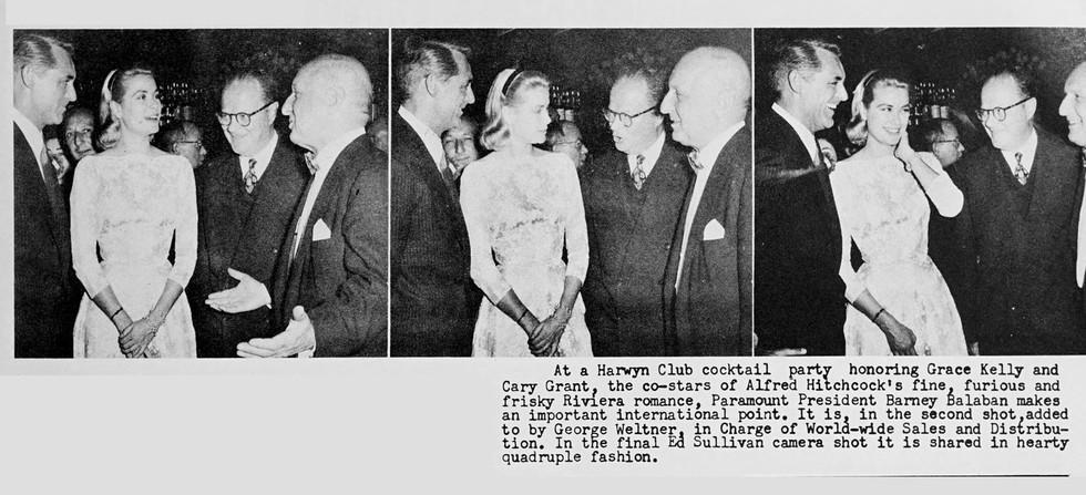 Barney Balaban, Grace Kelly, Cary Grant