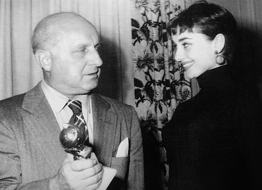 Barney Balaban & Audrey Hepburn