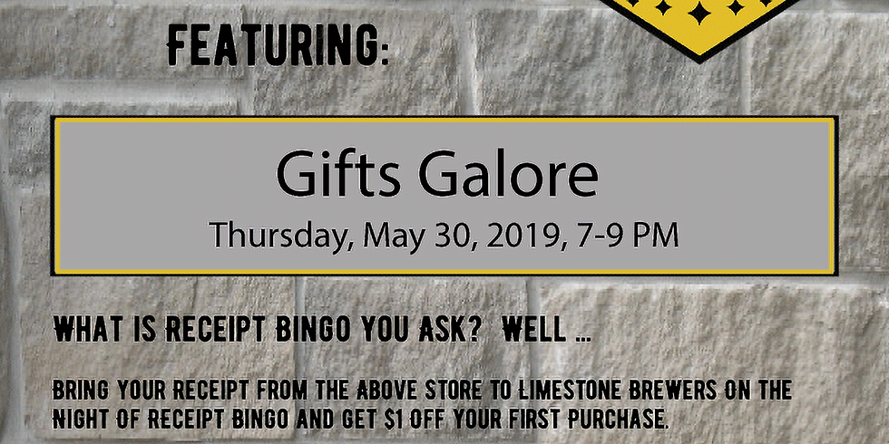 Receipt BINGO- Gifts Galore