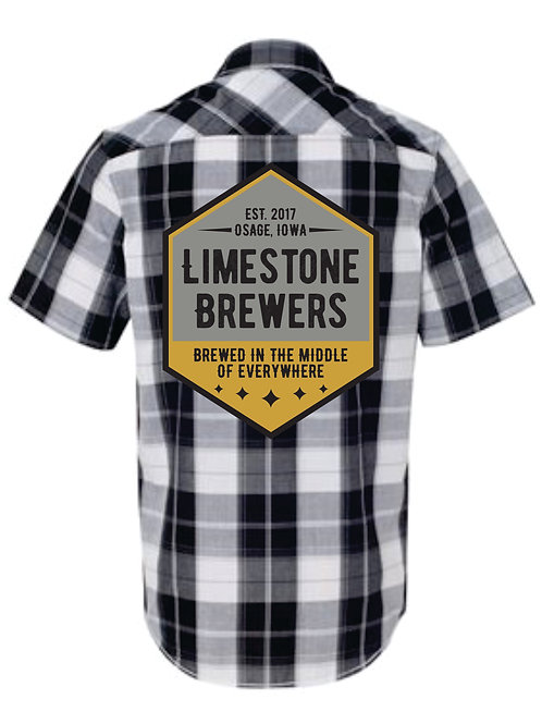 Plaid Brewers Crew Shirt