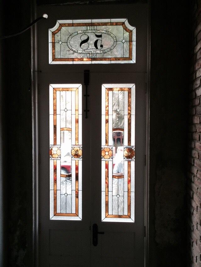 Vitral Emplomado para Puerta, Col. Roma CDMX