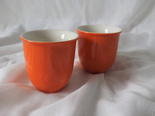 Orange Japanese Cups