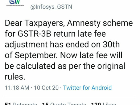 All extention over for gst return filling.