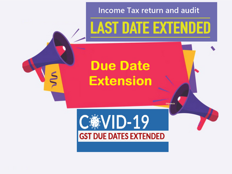 Breaking news govt extended it return and audit due date and also give extension for gst audit