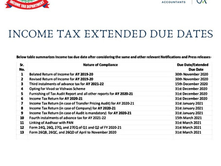 income tax extended due dates