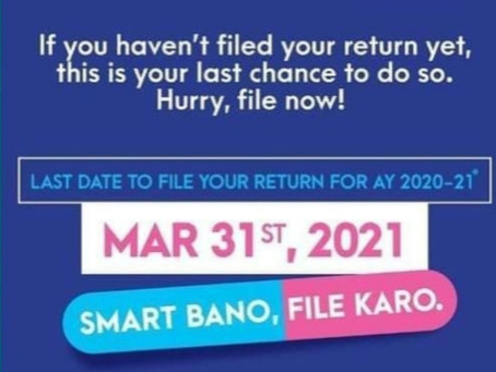 File your it return before 31st march