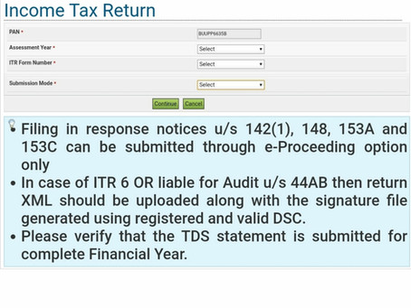 How to file income tax return?