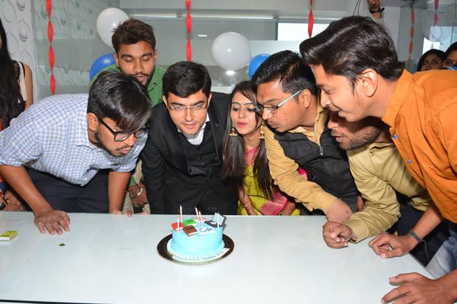 CA Firm Team celebration time