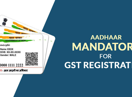 GST REGISTRATION THROUGH AADHAR AUTHENTICATION