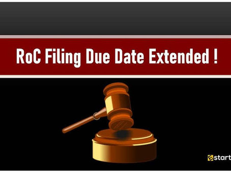 [aoc:4  15 february 2021] MCA DECLARE EXTENTION FOR ROC FORMS