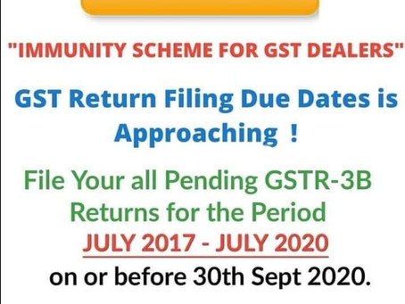 Gst return filling without late fees before 30th sep