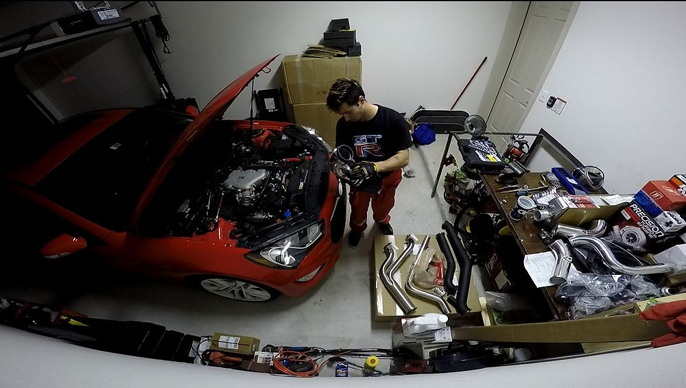 Installing the Turbo Kit in my garage May 2015