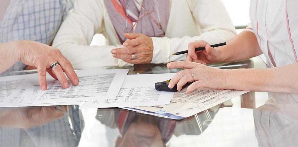 Older people figuring our their Estate Plan with Schum & Werner attorneys