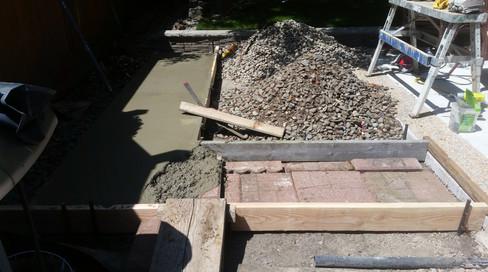 Pouring the Concrete Base