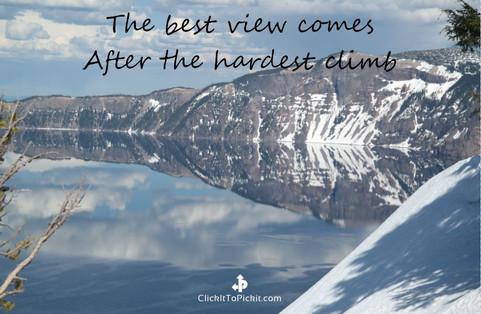 After hardest climb