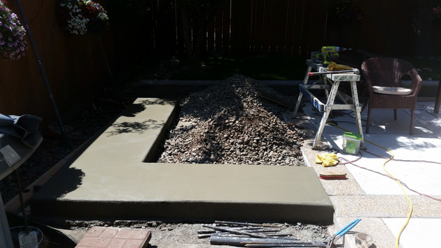 Concrete Base Poured and Drying