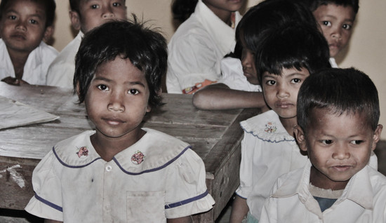 Cambodia students in class