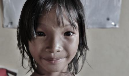 Beautiful young girl in Cambodia