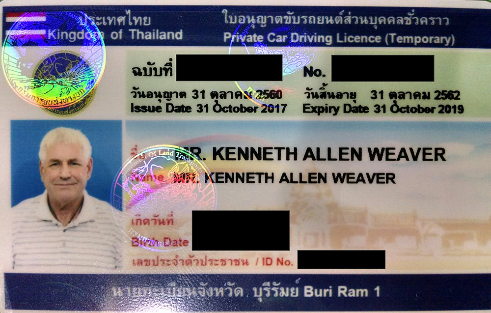 Thailand Drivers License for Foreigner