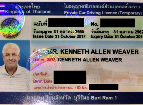 Thailand Driver's License for Foreigner