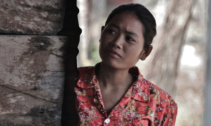 Cambodia lady watching clinic