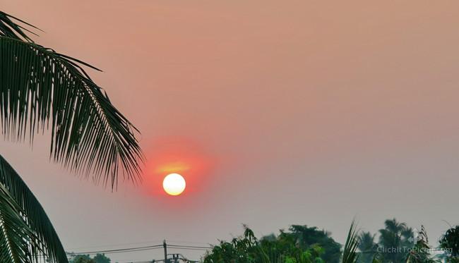 Sunset from my office window (Buriram Province)