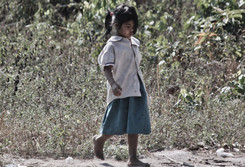 Cambodia Girl walking to school