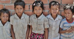 Cambodian Young Children at School