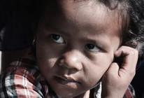 Cambodia girl very curious