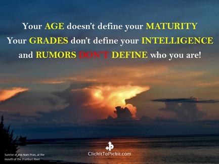 Age Maturity Grades Intelligence