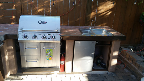Char-Broil Signature Series BBQ Installed