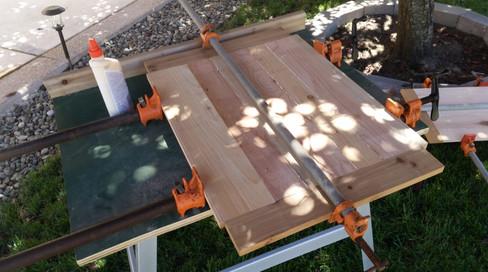 Gluing up the Cabinet Doors (Cedar)