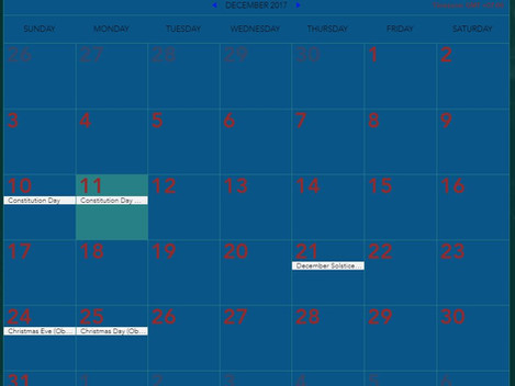Thailand National Holidays English Calendar