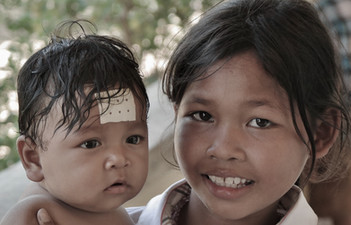 Cambodian Girl with Baby