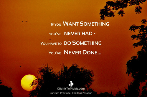 Something Never Had, Something Never Done