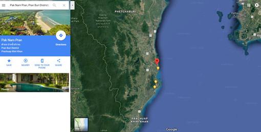 Pak Nam Pran Google Map