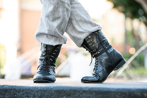 Men's Dance Combat Boot- Black
