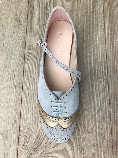 American Swing Shoe Two-tone Light Blue & Pantene accents