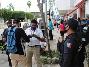 INM realiza recorrido en el primer cuadro de la ciudad de Tapachula