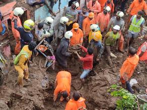 Decenas de muertos tras inundaciones y deslizamiento de tierras en la India