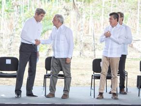 Acompaña Rutilio Escandón al presidente AMLO en presentación de Sembrando Vida a delegación de EUA