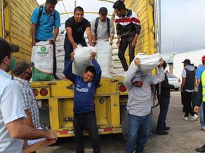 Gobierno local realiza tercera entrega de fertilizante a productores