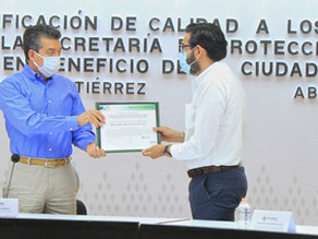 American Trust Register otorga sello de certificación a Protección Civil del estado