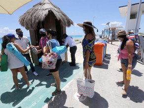 El turismo internacional en México cayó un 17,4 % interanual en marzo