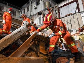 Derrumbe en hotel de China deja al menos 8 muertos y 9 desaparecidos